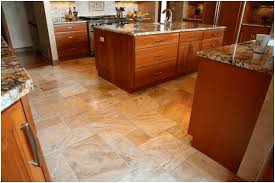 Kitchen floor tiles Patterned Travertine Tile Kitchen Flooring Home Stratosphere 15 Different Types Of Kitchen Floor Tiles extensive Buying Guide