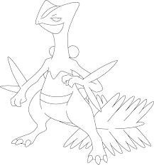 254 Sceptile Pokemon Kleurplaat 포켓몬색칠공부 Pokemon Coloring