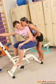 Two Cute Lesbian Teenie Girls Doing A Sexy Workout Together Porn Titan