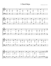 1e. A Full Sequence for Sight Singing) 1 Chord Skips