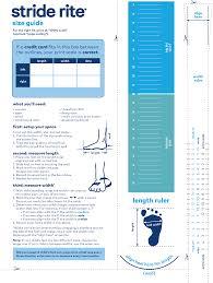 Stride Length Chart Bottom 2 Sizing Stride Rite