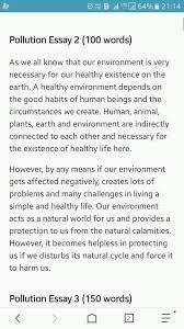 Essay Environment Pollution Essay Environmental Pollution 150 Words Mistyhamel