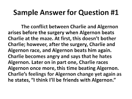 "flowers for algernon"" part test sample answers responses ppt  3 sample"