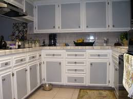 Two Tone Kitchen Cabinet Two Tone Kitchen Cabinets Grey And White Dark Color Countertop