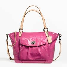 Women s Fuchsia Embossed Patent Leather Tote  Fuchsia Tote (Electronics)  discount coach handbags off