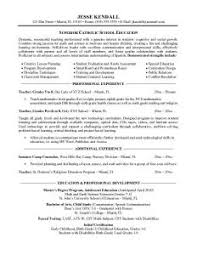 Brilliant Ideas Of Teachers Resume Free Examples With Additional