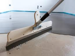 covering asbestos floor tiles with concrete
