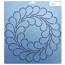 342 10.5 inch diameter feather circle block quilt stencil & 342 Feather circle quilting stencils 10.5 inch Adamdwight.com