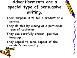 persuasive adverts key