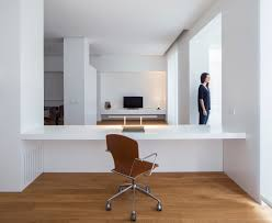 Designer home office desks Wall Modern Home Office With Builtin Desk Home Stratosphere 51 Really Great Home Office Ideas photos