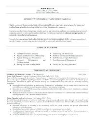 Financial Resume Template Adorable Director Of Finance Resume Examples Resume Of Finance Director