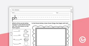 Our free phonics worksheets are great for everybody! Digraph Worksheet Ph Teaching Resource Teach Starter
