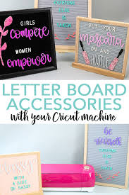 learn how to make letter board accessories with your cricut machine and a few supplies