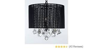 full size of crystal chandelier with black drum shade silver mist hanging by tribecca home inspire