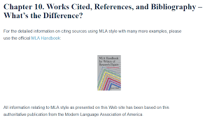 Work Citation Mla Format Works Cited References And Bibliography Whats The Difference