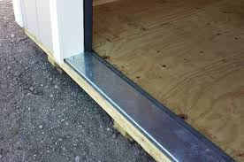 garage door threshold detail