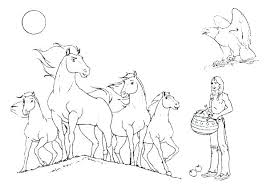 Horse Coloring Pages Printable Free Avusturyavizesiinfo