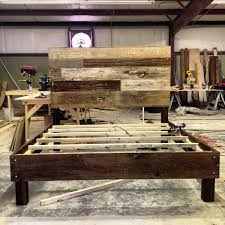 Homemade Rustic Picture Frames Rustic Barn Wood Beds Bed Furniture Decoration