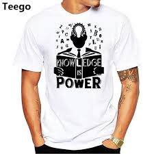 Make Your On Shirt New 2018 Fashion T Shirts Make Your Own Shirt Knowledge Is Power T