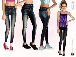 Sims pants for female teen