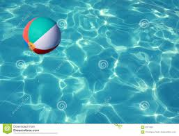 Concept Beach Ball In Pool Stock Photo W For Design