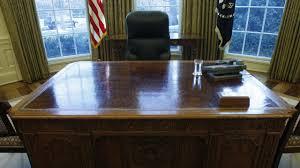 the oval office desk. U.S. President Barack Obama\u0027s Desk Is Seen In The Oval Office At White House