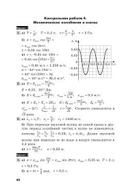 Ответы к заданиям по физике Заботин Комиссарова Контрольная работа 4 Механические колебания и волны