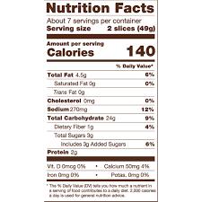 Delicious White Bread Nutrition Information 12 Oz Udis Gluten Free