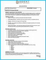 Waitress Description For Resume Resume Job Duties Examples Fungramco Waitress Description Image 57