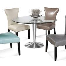 dining room awesome orted color upholstered dining chair with round gl dining table plus stainless