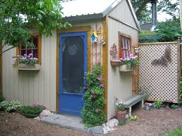Stylish Sheds Decorated Garden Sheds The Most Stylish Decorating Metal Garden