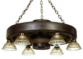 30 verde wagon wheel chandelier