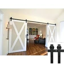 interior barn door kits inspirational 7 5 ft hardware sliding two black 9 fresh 4 6