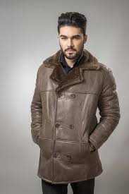 a fur coat for men that has a simple and clean design and offers comfort