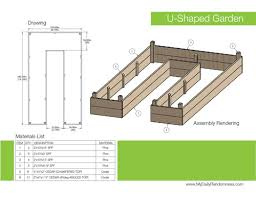 Small Picture How to Build A U Shaped Raised Garden Bed Drawing and Rendering