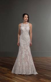 lace wedding dresses lace high neck wedding gown martina liana