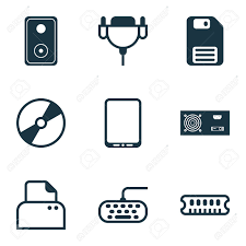 power generator icon. Wonderful Power Computer Icons Set Collection Of Power Generator Cellphone Vga Cord And  Other Elements In Generator Icon C