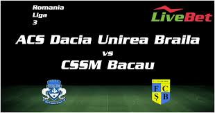 Totally, csm ramnicu sarat and dacia unirea braila fought for 1 times before. Acs Dacia Unirea Braila Cssm Bacau Livescore Live Bet Football Livebet