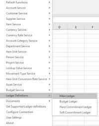 Make Account Ledger Enquiries