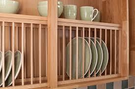 Oak Plate Rack Wood Kitchen Racks Solid Cabinets