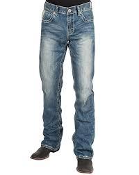 Stetson Mens 1014 Rocks Lowrise Boot Leg Jeans Blue