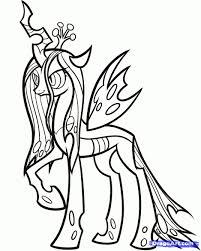Mlp Printable Coloring Pages Throughout Queen