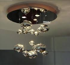bubble light fixture due bubble glass ceiling light chrome lampshade decoration fixtures restaurant bedroom home hanging
