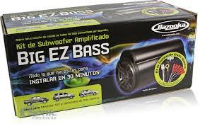 bazooka 50w 8 big ez bass amplified subwoofer kit with harness bta850fh