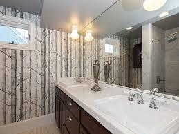 Bathroom Tile Wallpaper Traditional Full Bathroom With Tiled Wall Showerbath Rain Shower