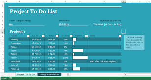 Todo List In Excel Project To Do List In Excel Templates At Allbusinesstemplates