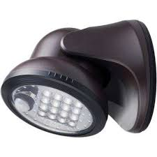 100 degree bronze motion activated integrated led outdoor wireless flood light
