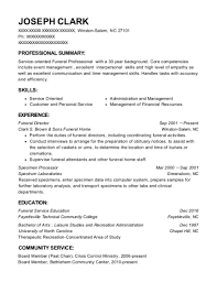 funeral director resume dale woodward funeral home funeral director resume sample