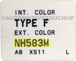 2015 Honda Accord Color Chart Honda Paint Code Locations Touch Up Paint Automotivetouchup