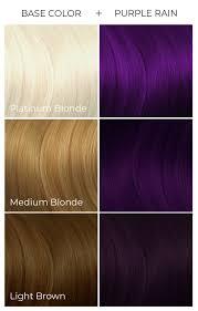 Shades Of Purple Hair Dye Chart Purple Rain